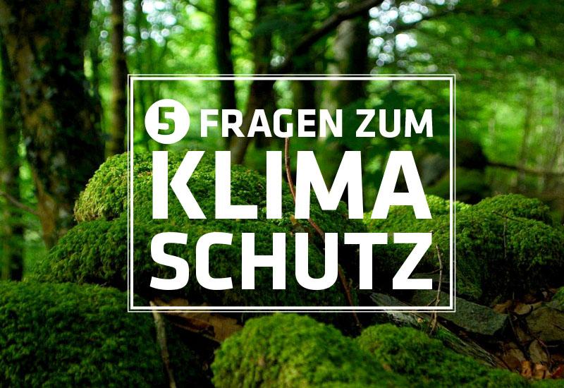 Fünf Fragen zum Klimaschutz, Teil 2